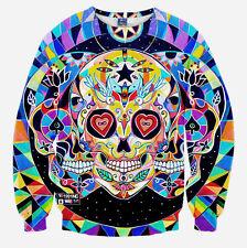New Womens Mens 3D Animal Print Hoodie Sweatshirt Galaxy Jumper Pullover T-shirt