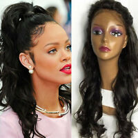 Glueless Brazilian Natural Wave 100% Human Hair Lace Front Wig Full Lace Wigs