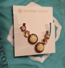 Kendra Scott Caralyn Ear Cuff Jackets Peach Illusion Gold Earrings Fashion Rare