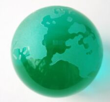 Ozean grünes Uranglas / Vaseline Glass   Globus mit Standfläche