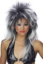 DIVINE PUNK Silver& Black Spikey Tina Turner LOOK Diva Skunk # 25