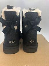 Новые женские сапоги Ugg Mini Bailey бант блеск черный размер 8