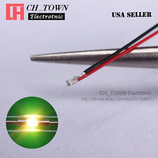 10PCS Pre-Soldered 0402 1005 Warm White Light Pre Wired 20CM SMD LED Diodes