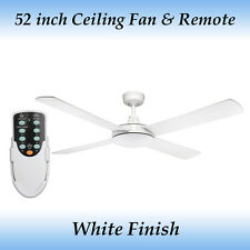 Genesis 52 inch 4 Blade White Ceiling Fan and Remote