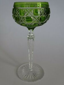 VINTAGE ROEMER WINE GLASS CRYSTAL VAL SAINT LAMBERT