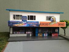 HO scale building (KIT) 2 story ait and tackle shop and Fish and Chips