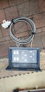 Electrak 3 compartment Floor socket / Box  with 32 amp tap off approx 3m