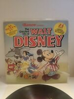 VINTAGE Greatest Hits Of Walt Disney RONCO LP (with lyric sheet & cutouts)