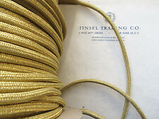 """4 yds 2 Ply Vintage Antique French Gold Metallic Twisted Rope Cord Trim 1//32/""""/"""""""