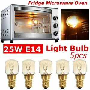 5 Pcs Oven Microwave Light Lamp Bulb Fridge Screw Pygmy Bulbs Appliance 25W E14