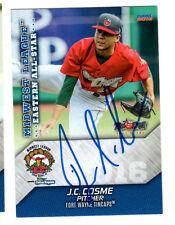 J.C. Cosme 2016 Midwest League All Star auto signed card Ft Wayne Tincaps