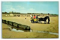 Postcard The Beach Sutton On Sea Lincolnshire posted 1970