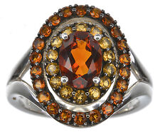 Sterling Silver Colors of Citrine ring size 6