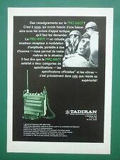 1970'S PUB TADIRAN ISRAEL ELCTRONICS TSAHAL PRC-660T EMETTEUR RECEPTEUR RADIO AD