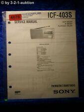 Sony Service Manual ICF 403S 3 Band Radio (#4676)
