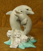 "Castagna Animal Figurines #330 DOLPHIN LOVERS 4.25"", NEW/Box MADE IN ITALY"