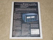 McIntosh MC 2205 High-End Vintage Amplifier Ad, 1 Page, Specs, Details, RARE!
