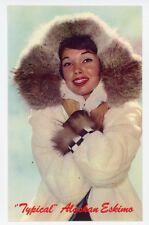 "ALASKA. ""TYPICAL"" ALASKAN ESKIMO. Pretty Lady Chrome Postcard"