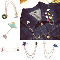 Fashion Cute Enamel Collar Pin Badge Corsage Cartoon Metal Brooch Pins Jewelry