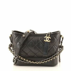 Chanel Gabrielle Hobo Quilted Aged Calfskin Small