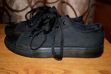 Levi's Canvas Sneakers Men Sz 10.5 Black in Good Condition!