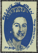 SEX PISTOLS PATCH ROYAL BLUE GOD SAVE THE QUEEN ENGLISH PUNK ROCK 1977 A6+
