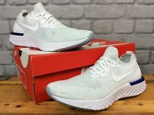 NIKE MENS UK 7 EU 41 EPIC REACT FLYKNIT WHITE BLUE RUNNING TRAINERS RRP £130 LG