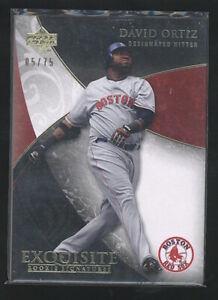 2007 Exquisite DAVID ORTIZ rare SP #5/75 Boston Red Sox
