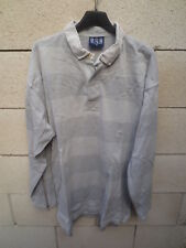 Polo SERGE BLANCO Quinze 15 rugby shirt gris manches longues XL