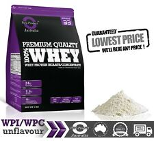 1KG WPC - WHEY PROTEIN CONCENTRATE POWDER - NATURAL & PURE -AU