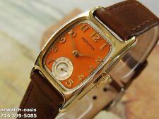Vintage 1941 HAMILTON Boulton, Stunning Orange Dial, Serviced & Warranty