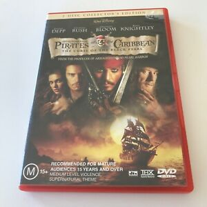 Pirates Of The Caribbean The Curse Of The Black Pearl DVD 2 Disc Collectors Ed.