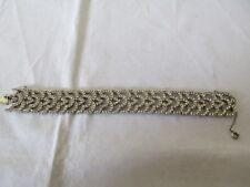 Lovely Vintage / Antique Sterling Silver Diamente Bracelet