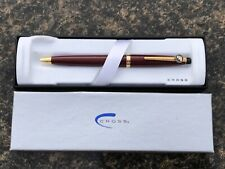 NEW NIB CROSS PEN Burgundy Bordeaux 802A-4 Ink