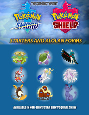 Pokemon Sword and Shield Starters and Alolan Forms| Pokemon Home