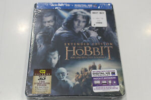 The Hobbit: An Unexpected Journey - Extended Edition Steelbook Bluray 3D