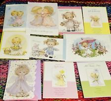 10 Assorted Ruth Morehead EASTER  Greeting Cards with Angelic Kids  Bible Verses