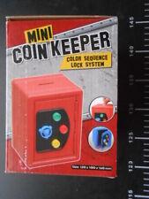 😇 CASSAFORTE SALVADANAIO Coin Keeper Bank Metal Color Sequence Lock System 😇