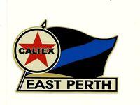 CALTEX & EAST PERTH Vinyl Decal Sticker PETROL PROMO WAFL afl vfl FOOTBALL