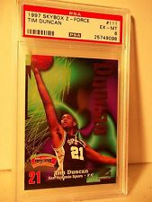 1997 Skybox Tim Duncan RC PSA EX-MT 6 Basketball Card #111 NBA Z-Force