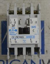 Cutler Hammer CE15CNS3 Series B1 Size C Contactor 110/120V 50/60Hz Coil