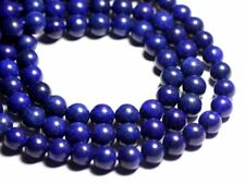 Fil 39cm 37pc env - Perles de Pierre - Lapis Lazuli Boules 10mm B