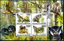 BURUNDI 2011 MNH SS, Marsh Owl, Eurasian scops, African grass, Spotted eagle