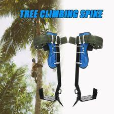 Tree Climbing Spike Set Safety Belt w/Gear Adjustable Lanyard Stainless Steel
