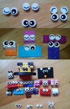 lot 10 yeux cils sourcil Oeil Lego pièces décoration eyes animaux brique minifig