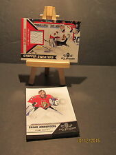 2010-11 Panini All Goalies Stopper Sweaters  White #6 Craig Anderson + 13 Base