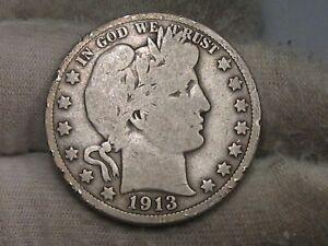 Key Date 1913 Barber Half Dollar. #78