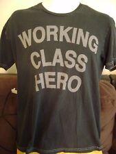 JOHN LENNON T-SHIRT-Men's SMALL- WORKING CLASS HERO- BEATLES ROCK SHIRT