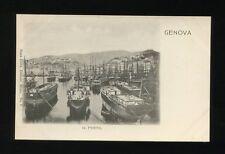 Italy GENOVA Il Porto u/b PPC good harbour scene sailing boats c1902