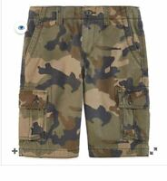 Boy's Arizona Shorts Cargo Sizes 12, 16, 16 Husky,18 Camo, Khaki, Gray New
